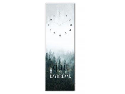 Skleněné nástěnné hodiny DAYDREAM 20x60 cm Styler