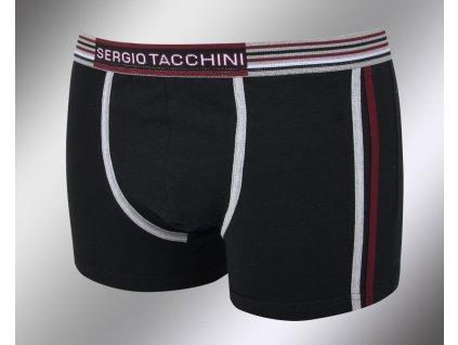 Pánské vzorované boxerky 18400 nero Sergio Tacchini
