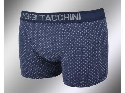 Pánské vzorované boxerky 18478 blu Sergio Tacchini