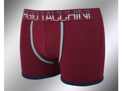 Pánské vzorované boxerky 18535 bordo Sergio Tacchini