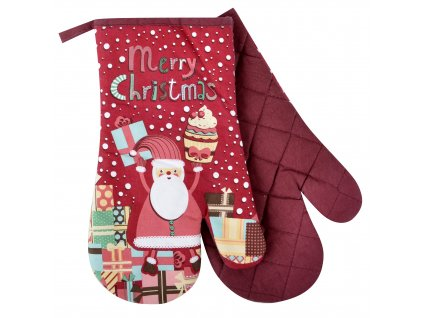 Kuchyňské rukavice chňapky CHRISTMAS, motiv C 18x30 cm Essex