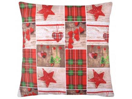Bavlněný polštář CHRISTMAS, 100% bavlna, 45x45 cm Mybesthome