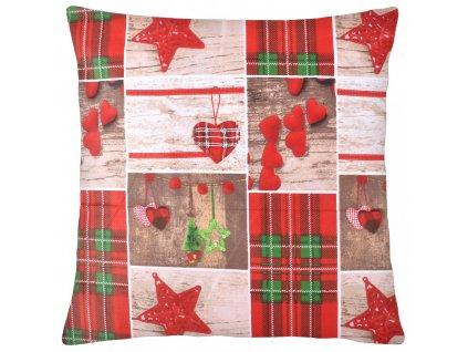 Bavlněný polštář CHRISTMAS 100% bavlna 40x40 cm, Mybesthome