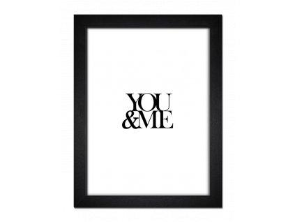 Obraz v rámu YOU AND ME 30x40 cm Styler