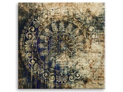 Obraz na plátně BLUE ARRAS 65x65 cm Styler