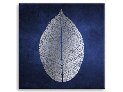 Obraz na plátně BLUE LEAF 65x65 cm Styler