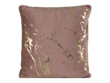 Polštář MARBLE růžová/zlatá 45x45 cm Mybesthome