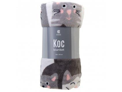 Mikrovláknový pléd - deka KOC cats 130x170 cm Essex