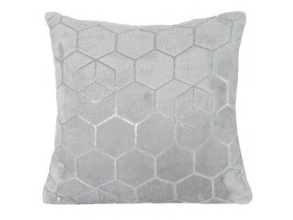 Polštář GEO mikrovlákno stříbrná Mybesthome 40x40cm, geometrický vzor