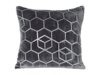 Polštář GEO mikrovlákno tmavě šedá Mybesthome 40x40cm, geometrický vzor