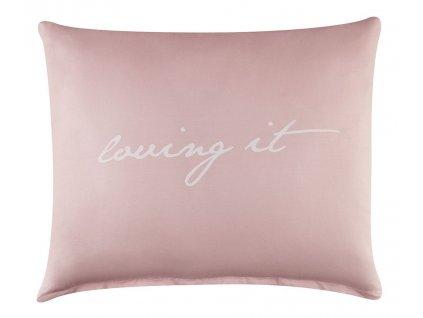 Polštář s výplní LOVING 50x60 cm, růžová/bílá, 100% bavlna Mybesthome