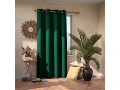 Dekorační závěs zatemňující AMALIA - BLACKOUT 140x245 cm, tmavě zelená, MyBestHome
