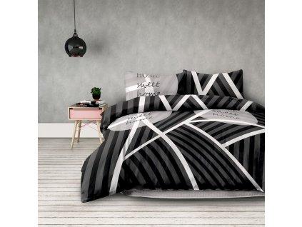 Povlečení HOME SWEET 100% bavlna 1x 140x200 cm, 1x povlak 70x90 cm