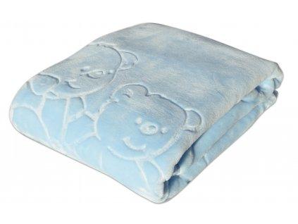 Dětská deka MARIBEL modrá 80x110 cm španělská akrylová deka Mybesthome