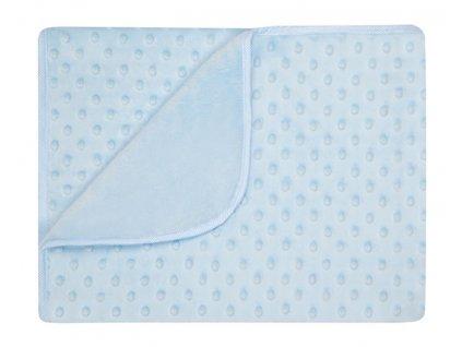 Dětská deka MAIA modrá MINKY 80x90 cm Mybesthome