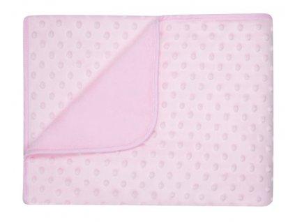 Dětská deka MAIA růžová MINKY 80x90 cm Mybesthome