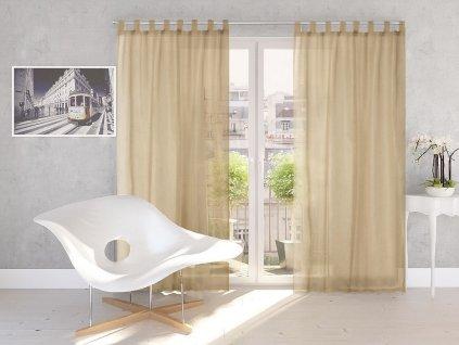 Dekorační záclona DIANA taupe 140x245 cm MyBestHome