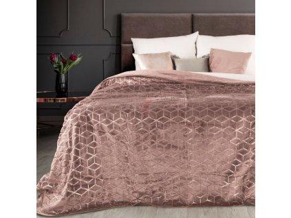 Luxusní přehoz z mikrovlákna ASTRID 200x220 cm růžová Mybesthome