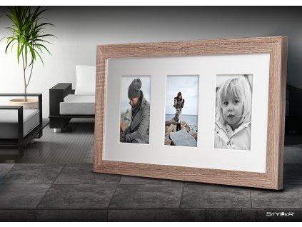 Multi fotorámeček na 5 fotografií béžová NARVIK 27x51 cm Styler