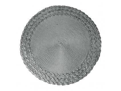 Prostírání kulaté MANDO tmavě stříbrná Ø 38 cm Mybesthome
