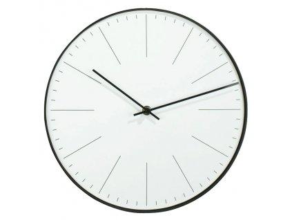 Nástěnné hodiny WALL bílá/černá Ø 30 cm Mybesthome
