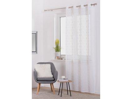 Dekorační záclona PRIZMA bílá/bílá 140x245 cm MyBestHome