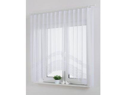 Dekorační oblouková krátká záclona BONA bílá 300x160 cm MyBestHome
