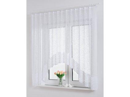Dekorační oblouková krátká záclona NIKA bílá 300x160 cm MyBestHome