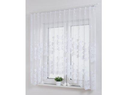 Dekorační oblouková krátká záclona MAJA bílá 300x160 cm MyBestHome