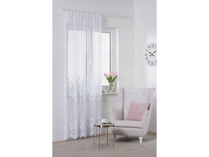 Dekorační žakárová záclona s řasící páskou MAJA BALKON 200x250 cm MyBestHome