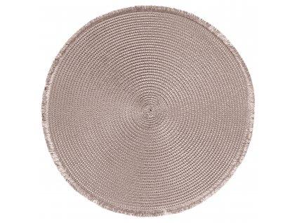 Prostírání kulaté CARIBI béžová Ø 38 cm Mybesthome