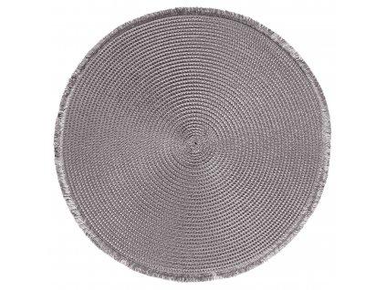 Prostírání kulaté CARIBI šedá Ø 38 cm Mybesthome