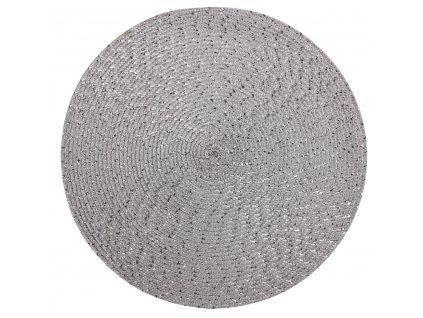 Prostírání kulaté MIRGO stříbrná Ø 38 cm Mybesthome