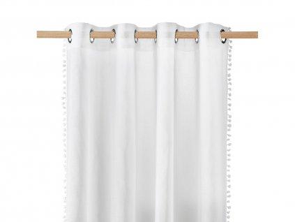 Dekorační záclona SPIRIT bílá s kroužky 140x250 cm MyBestHome