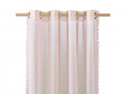 Dekorační záclona SPIRIT růžová s kroužky 140x250 cm MyBestHome