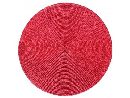 Prostírání kulaté SPLOT červená Ø 38 cm Mybesthome