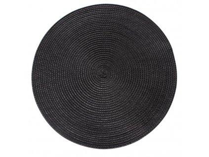 Prostírání kulaté SPLOT černá Ø 38 cm Mybesthome