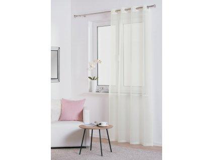 Dekorační záclona DIANA smetanová s kroužky 140x245 cm MyBestHome