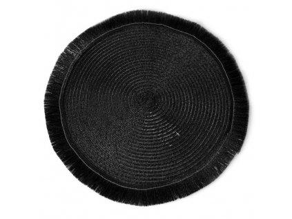 Prostírání kulaté EMMA černá Ø 38 cm Mybesthome