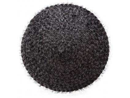 Prostírání kulaté TAMARA černá Ø 38 cm Mybesthome