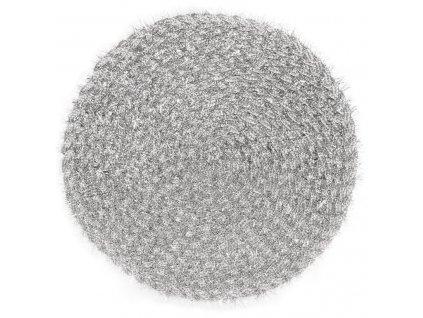 Prostírání kulaté TAMARA stříbrná Ø 38 cm Mybesthome