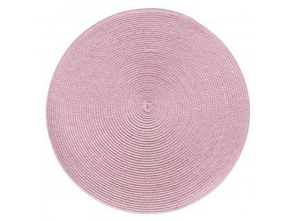 Prostírání kulaté SPLOT pudrová růžová Ø 38 cm Mybesthome