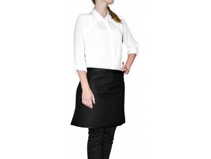 Kuchyňská bavlněná zástěra do pasu MULTICOLOR černá, 45x65 cm, Essex, 100% bavlna