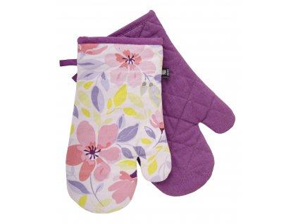 Kuchyňské bavlněné rukavice - chňapky JOYFUL fialová, 100% bavlna 19x30 cm Essex