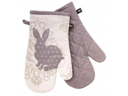Kuchyňské bavlněné rukavice - chňapky LOVELY RABBIT, motiv B, 100% bavlna 19x30 cm Essex