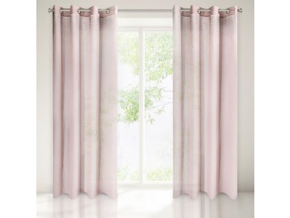 Dekorační vzorovaná záclona ZIRKONIUM růžová 140x250 cm MyBestHome