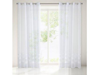 Dekorační vzorovaná záclona CELEB bílá 140x250 cm MyBestHome