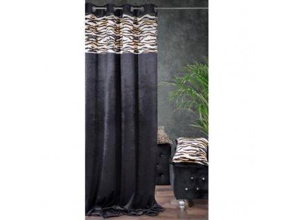 Dekorační závěs zatemňující ITUBA 140x250 cm, černá/hnědá, MyBestHome