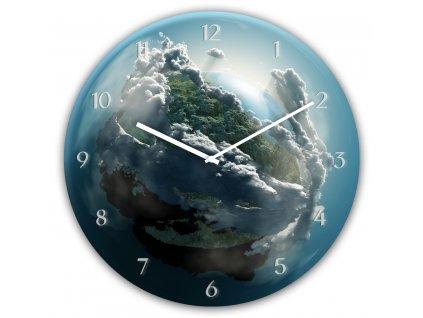 Skleněné nástěnné hodiny CLOUDS Ø 30 cm Styler