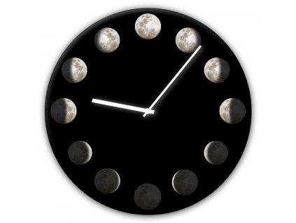 Skleněné nástěnné hodiny PHASES Ø 30 cm Styler